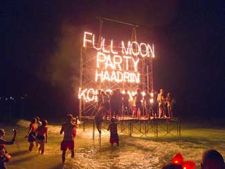 full moon party koh phanang thailand